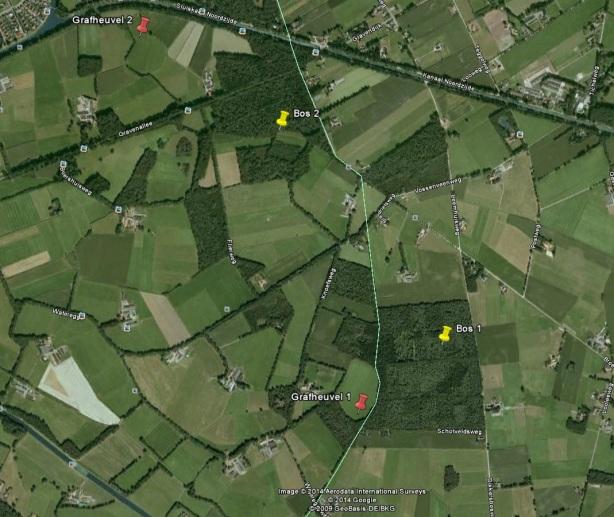 Schatkaart Nederland Twente steentijd met grafheuvel en vindplekken