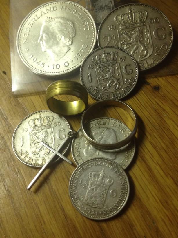 Zilveren tientjes guldens en rijksdaalders Nederland geld
