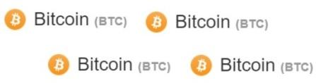 Bitcoin logo 4x naast elkaar - crypto goud