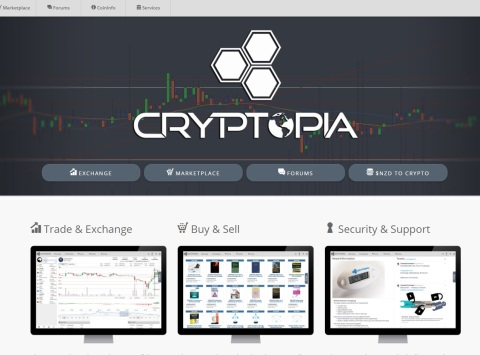 Cryptopia handelsmarktplaats exchange crypto bitcoin altcoin 2