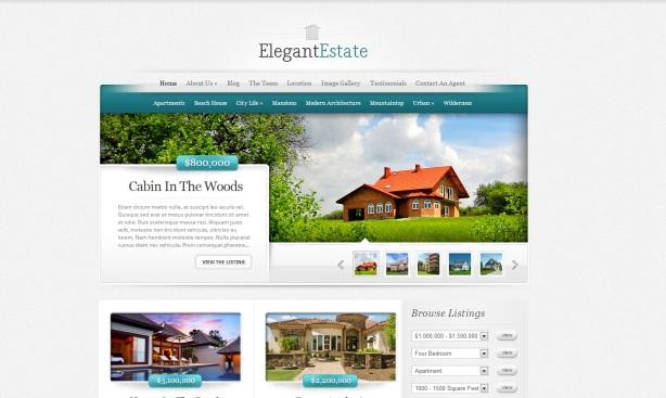 ElegantEstate - premium WordPress vastgoed onroerend goed - real estate template