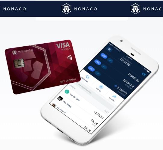 Monaco betaalpas debitcard creditcard cryptocard kaart 4